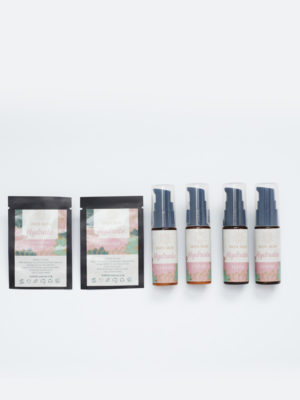 Indi Skin Hydrate trial range is a collection of samples from the entire Hydrate range