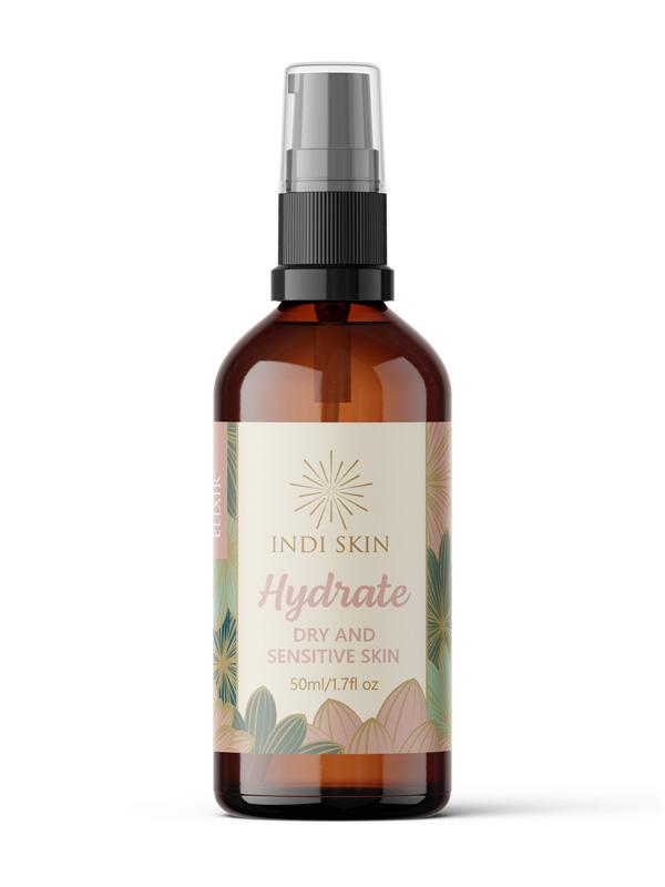 Indi Skin Hydrate Elixir, dry and sensitive skin elixir, dry skin treatment